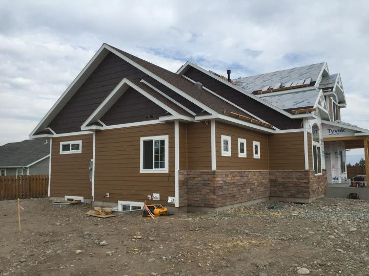 exterior siding, roof dry-in, clip stone
