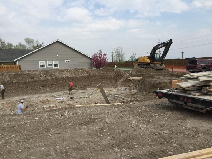 Excavation for basement footings