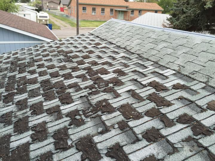 old mossy roof before replacement