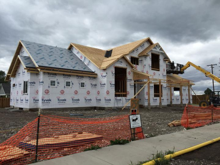 Wall and roof sheathing and tyvek titanium underlayment