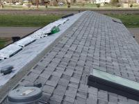 New asphault shingle reroof