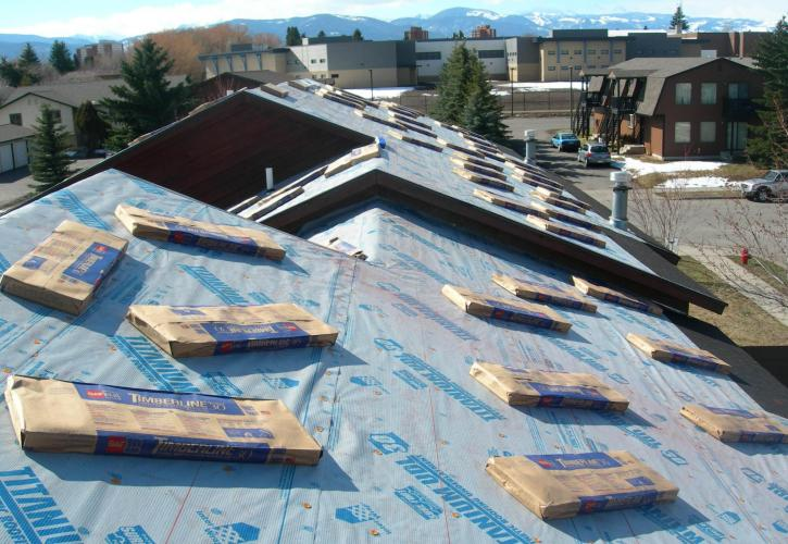 Bozeman MT re-roof dried in titanium underlyament Harmon Enterprises Constuction Inc